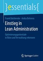Einstieg in Lean Administration PDF