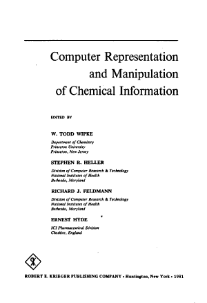 Computer Representation and Manipulation of Chemical Information