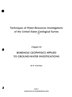 Techniques of Water resources Investigations of the United States Geological Survey  chap  D1  Collection of environmental data  Application of surface geophysics to ground water investigations PDF