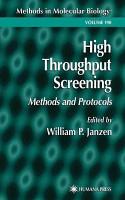 High Throughput Screening PDF