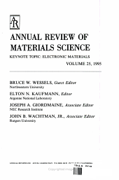 Annual Review of Materials Science PDF