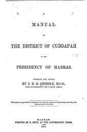 Manual of the District of Cuddapah in the Presidency of Madras
