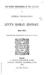 A literal translation of Livy's Roman history, book xxi (-xxiii) arranged for interleaving with Madvig's text, by T.A. Blyth