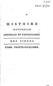 Histoire naturelle generale et particuliere: Volume35