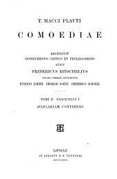 T. Macci Plauti Comoediae; recensuit instrumento critico et prolegomenis auxit Fridericus Ritschelius sociis operae adsumptis Gustavo Loewe, Georgio Goetz, Friderico Schoell: fasc. I. Aulularia; recensuit G. Goetz. 1881. fasc. II. Amphitrvo; recensuerunt G. Goetz et G. Loewe. 1882. fasc. III. Mercator; recensuit F. Ritschelius, ed. altera a G. Goetz recognita. 1883. fasc. IV. Stichvs; recensuit F. Ritschelius, ed. altera a G. Goetz recognita. 1883. fasc. V. Poenulus; recensuerunt Ritschelii schedis adhibitis G. Goetz et G. Loewe. 1884