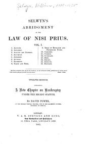 Selwyn's Abridgement of the Law of Nisi Prius: Volume 1