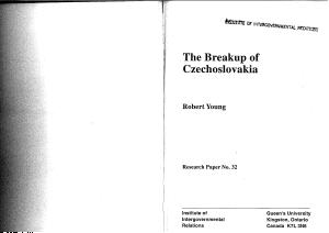 The Breakup of Czechoslovakia PDF