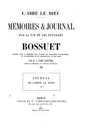 Mémoires & [et] journal sur la vie et les ouvrages de Bossuet: Journal