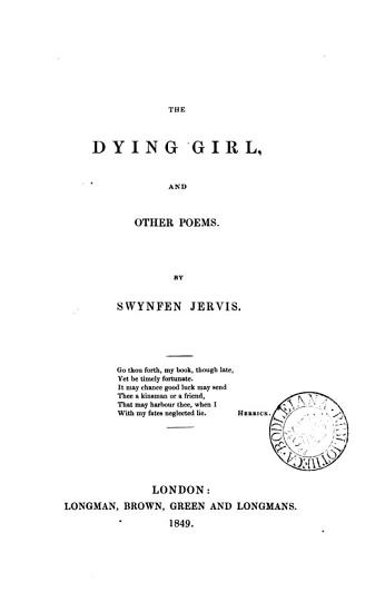 The Dying Girl  and Other Poems PDF