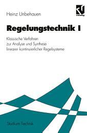 Regelungstechnik I: Klassische Verfahren zur Analyse und Synthese linearer kontinuierlicher Regelsysteme, Ausgabe 9