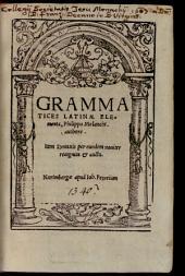 Grammatices latinae elementa