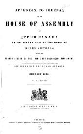 Journal of the House of Assembly of Upper Canada: Part 2