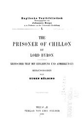 The prisoner of Chillon: Band 1