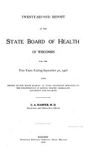 Annual Report of the State Board of Health of the State of Wisconsin for the Year Ending     PDF
