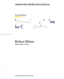 Intermediate algebra for college students Book