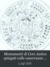 Monumenti di cere antica spiegati colle osservanze del culto di Mitra