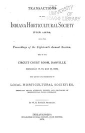 Transactions of the Indiana Horticultural Society ...: Volume 18