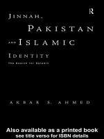 Jinnah  Pakistan and Islamic Identity PDF