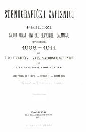Stenografčki zapisnici i prilozi Sabora Kralj, Hrvatske, Slavonije i Dalmacije: Opseg 1
