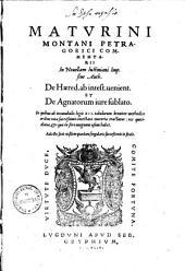 Commentarii in Novellam Iustiniani imper: Sive Auth. de Haered. ab intest. venient. et de Agnatorum iure sublato