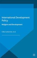 International Development Policy  Religion and Development PDF