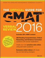 The Official Guide for GMAT Verbal Review 2016 with Online Question Bank and Exclusive Video PDF