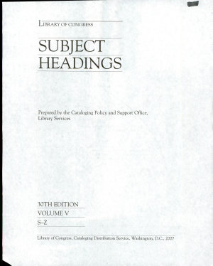 Library of Congress Subject Headings PDF