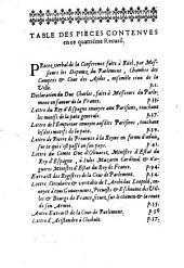 Recueil de diverses pieces curieuses de ce temps. (Sur l'imprime a Paris a