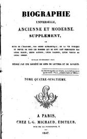 Biographie universelle, ancienne et moderne, etc: Volume80