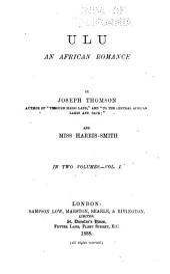 Ulu: An African Romance, Volume 1