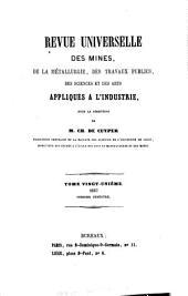 Revue universelle des mines, de la metallurgie, des travaux publics, des sciences et des arts appliqués à l'industrie: Volume21