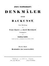 Denkmäler der Baukunst: Denkmäler der neueren Zeit. 4