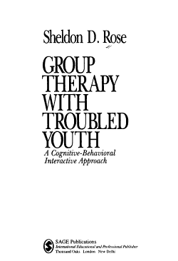 Group Therapy with Troubled Youth PDF