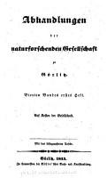 Abhandlungen der Naturforschenden Gesellschaft zu G  rlitz PDF