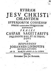 Rubram Jesu Christi chlamydem
