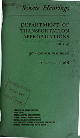 Department of Transportation Appropriations for Fiscal Year 1968 PDF