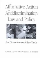 Affirmative Action in Antidiscrimination Law and Policy PDF