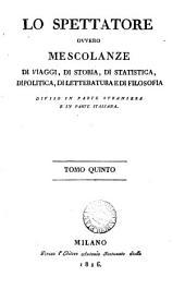 Lo Spettatore [ed. by D. Bertolotti].