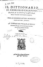 Il dittionario di Ambrogio Calepino dalla lingua latina