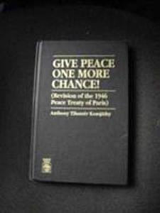 Give Peace One More Chance!