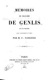 Mémoires de Madame de Genlis: en un volume