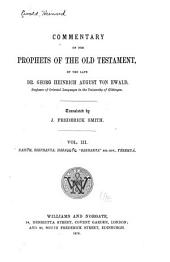 "Commentary on the Prophets of the Old Testament: Commentary on the books of Nahûm, Ssephanya, Habaqqûq, ""Zahkarya"" (Ch. XII-XIV), Yérmayá"