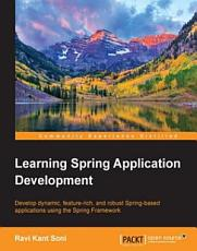Learning Spring Application Development PDF