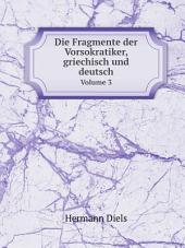 Die Fragmente der Vorsokratiker, griechisch und deutsch