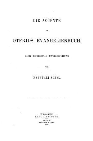 Die Accente in Otfrids Evangelienbuch