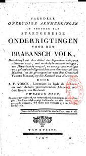 Onderrigtingen voor het Brabansch volk