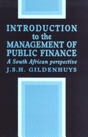 Introduction to the Management of Public Finance PDF