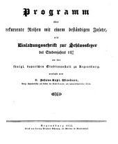 Programm über rekurrente Reihen mit einem beständigen Zusatze