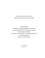 Computational Methods for the Analysis of Musical Structure PDF