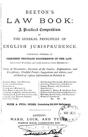 Beeton s Law Book PDF